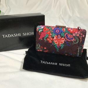 NWT $188 Tadashi Shoji Ahmar Clutch Bag with Chain